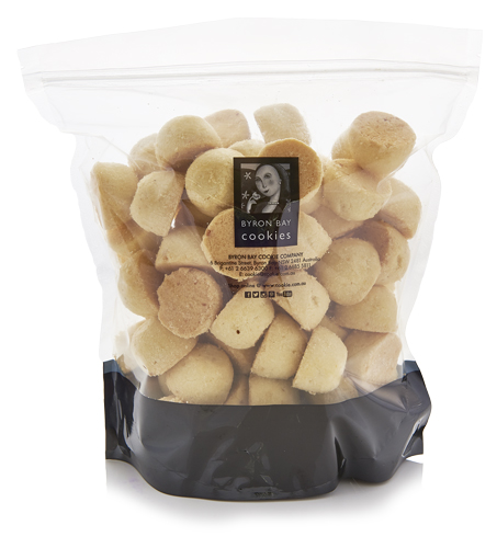 Lemon & Macadamia Nut Shortbread Cookies - Bulk Baby Buttons 1kg