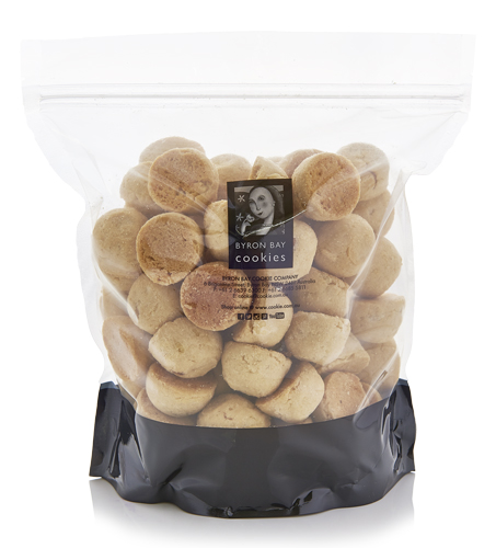 White Choc Chunk & Macadamia Nut Cookies - Baby Buttons 1kg